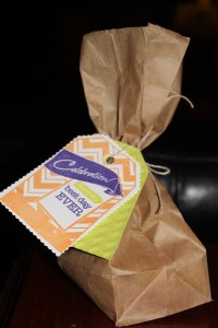 "spellbinders ""best day ever treat bag"" filled with sweet things"
