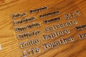 "Spellbinders ""many words"" polymer stamp set"