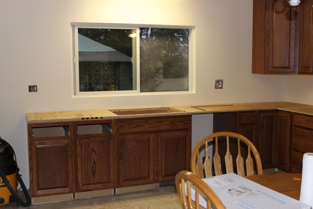 new windows and cabinets